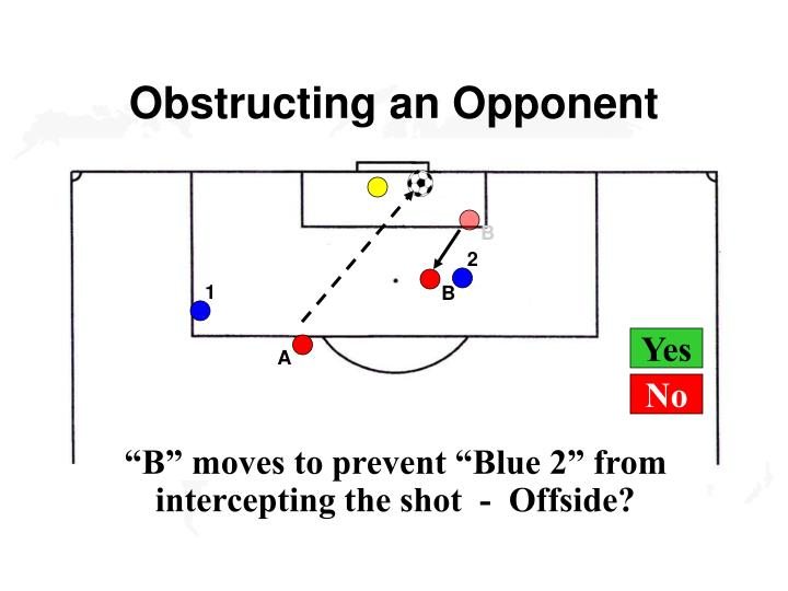 Obstructing an Opponent
