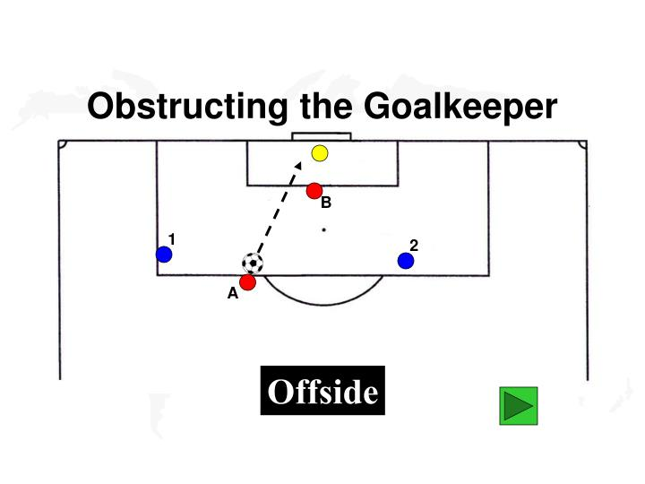 Obstructing the Goalkeeper