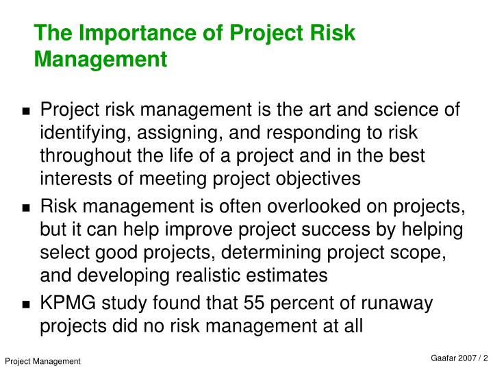 the importance of project management for