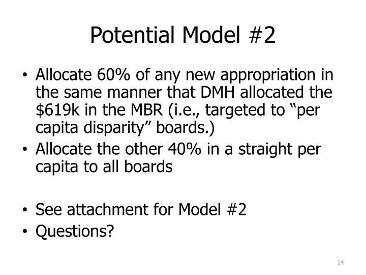 Potential Model #2