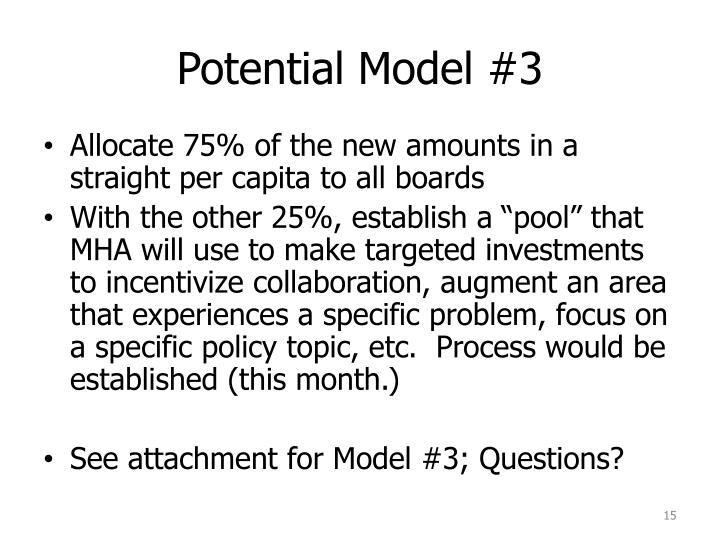 Potential Model #3
