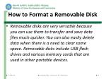 how to format a removable disk