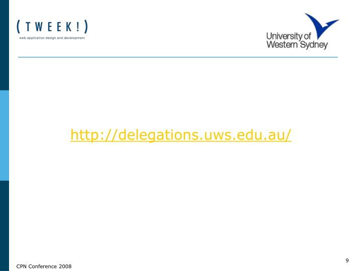 http://delegations.uws.edu.au/