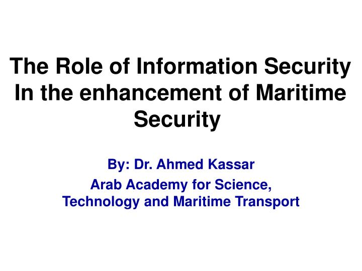 the role of information security policy Information security – roles and responsibilities procedures v10 1 purpose information security policy 2 scope and applicability.