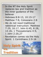 holy spirit vs tradition