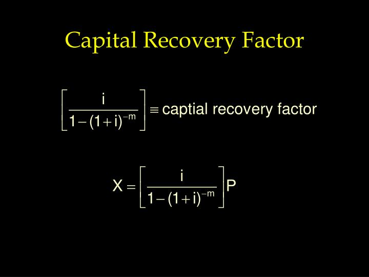 Capital Recovery Factor