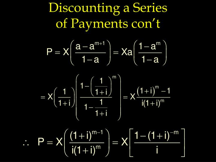 Discounting a Series