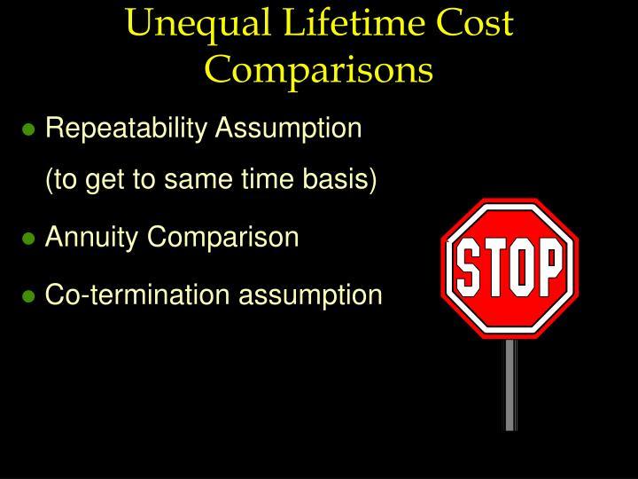 Unequal Lifetime Cost Comparisons