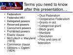 terms you need to know after this presentation