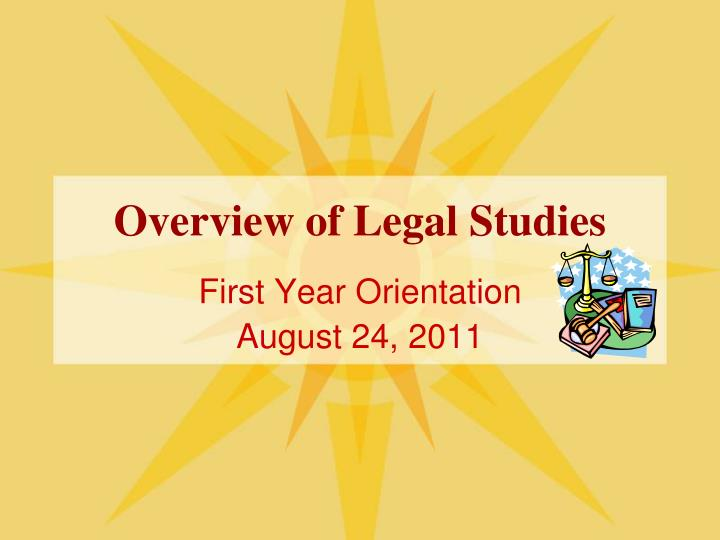 Overview of legal studies