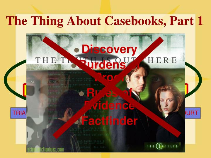 The Thing About Casebooks, Part 1