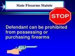 state firearms statute