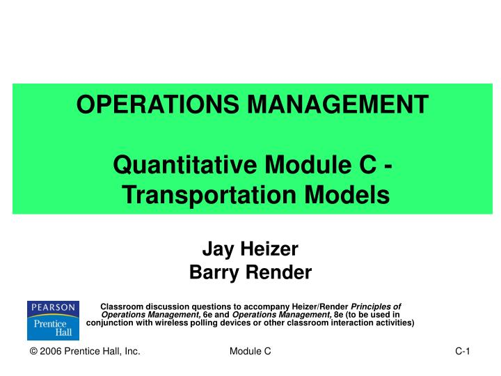 paper on operation research transportation model 15102018  the focus of transportation research: part c is high-quality, scholarly research that addresses development, applications, and implications, in the.