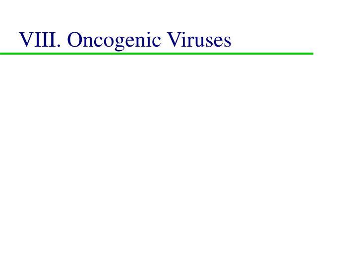 VIII. Oncogenic Viruses
