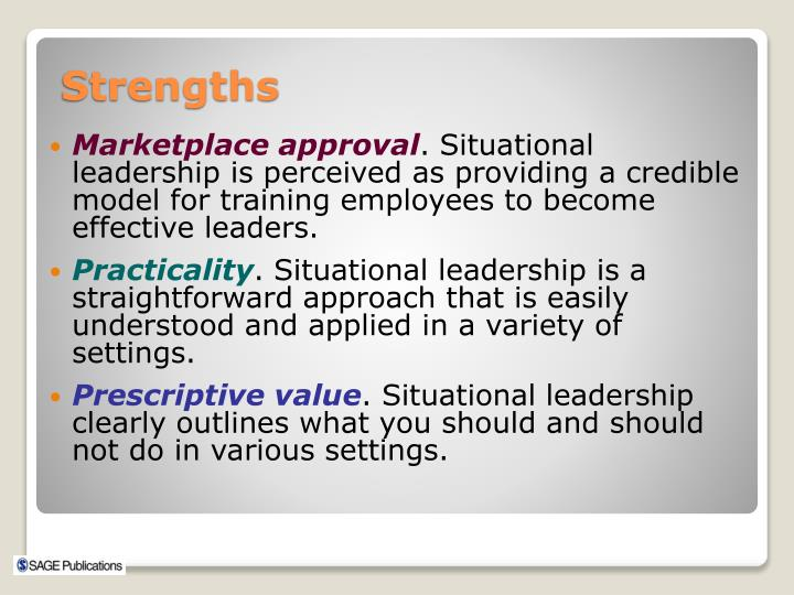 strengths of situational leadership