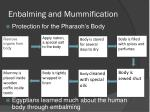 enbalming and mummification