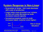 system response is non linear