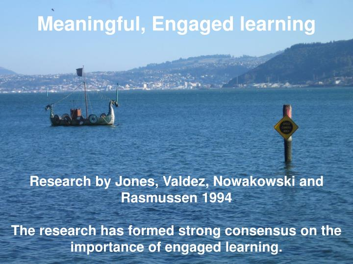 Meaningful, Engaged learning