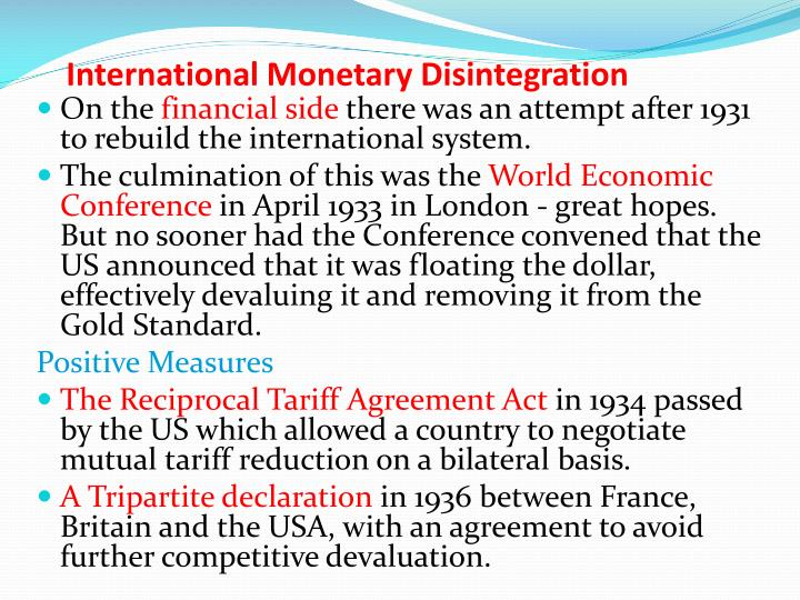 International Monetary Disintegration