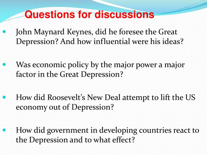 John Maynard Keynes, did he foresee the Great Depression? And how influential were his ideas?