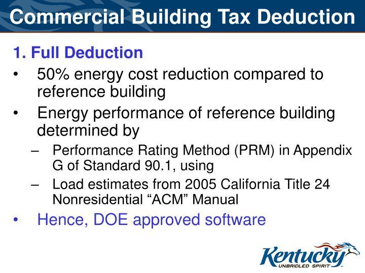 Commercial Building Tax Deduction