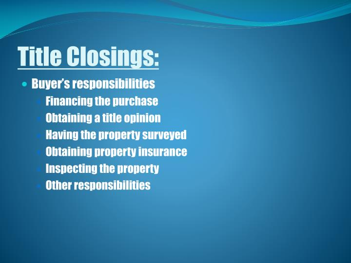 Title Closings: