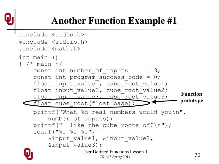 Another Function Example #1