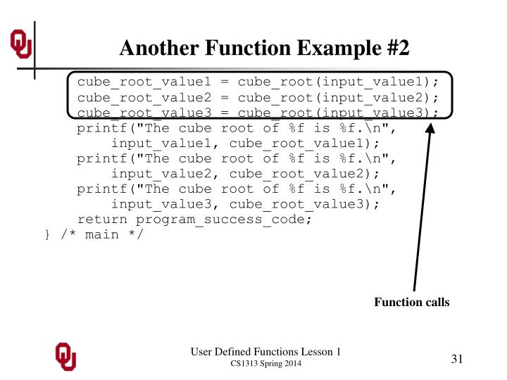 Another Function Example #2