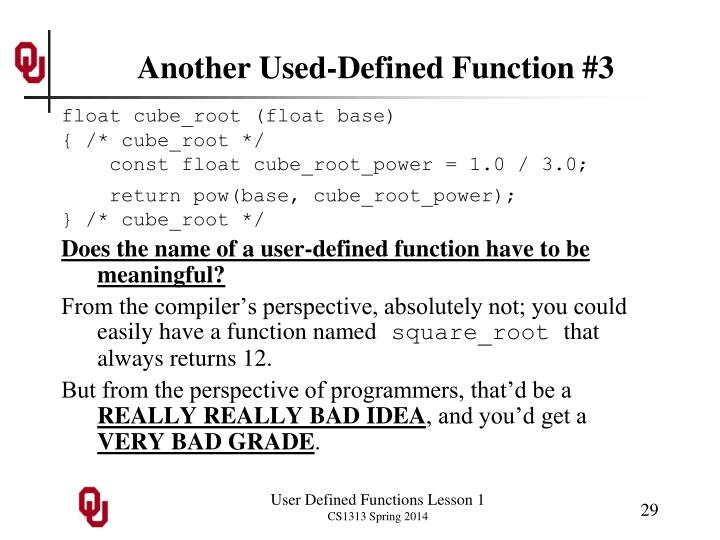 Another Used-Defined Function #3