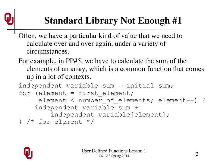 Standard library not enough 1