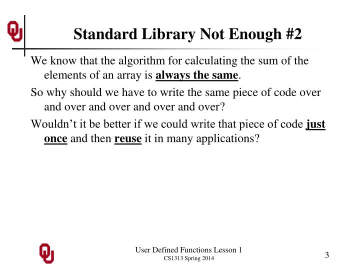 Standard library not enough 2
