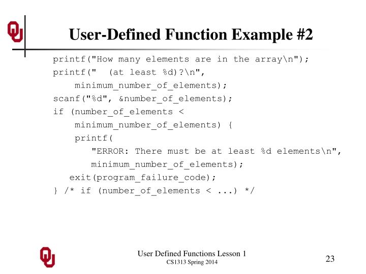 User-Defined Function Example #2