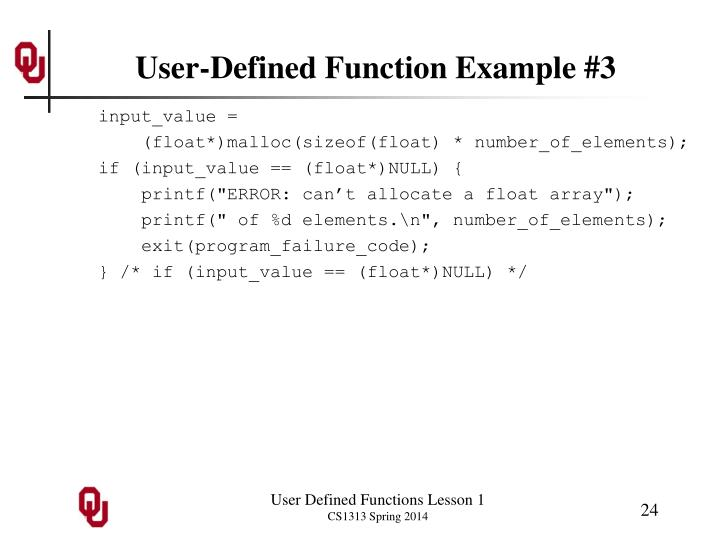 User-Defined Function Example #3