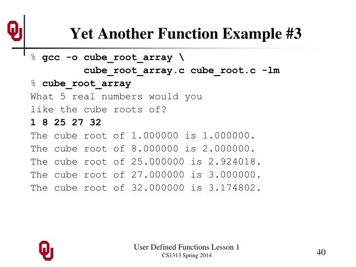 Yet Another Function Example #3