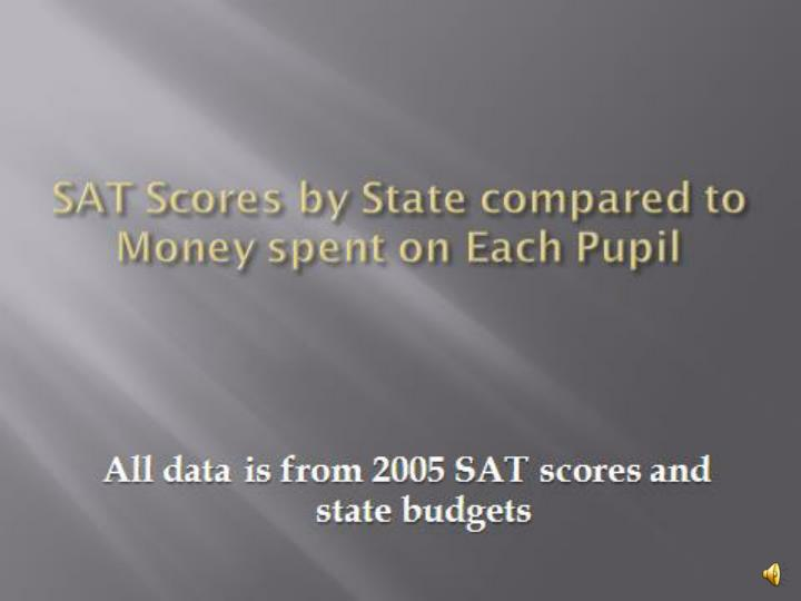 christopher squitieri dev sat scores by state compared to money spent on each pupil