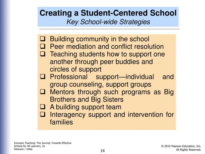 Creating a Student-Centered School