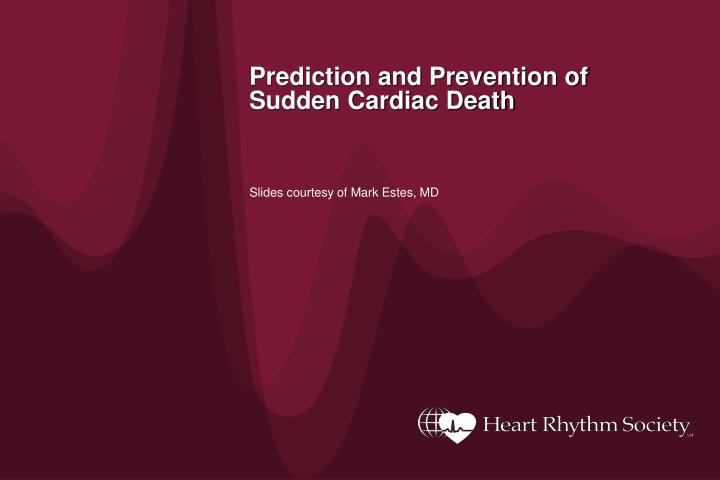 prediction and prevention of sudden cardiac death n.