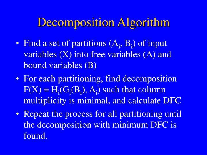 Decomposition Algorithm
