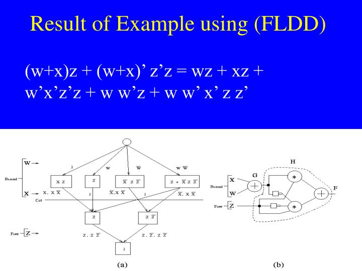 Result of Example using (FLDD)