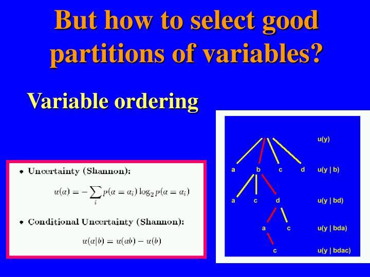 Variable ordering