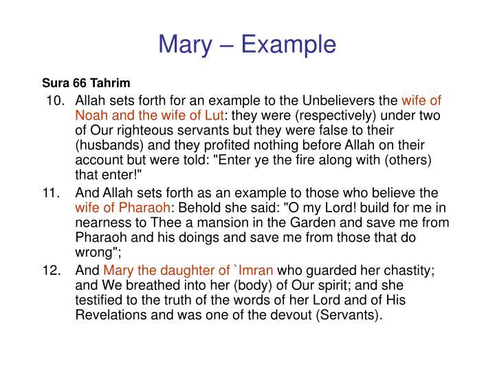 Mary – Example