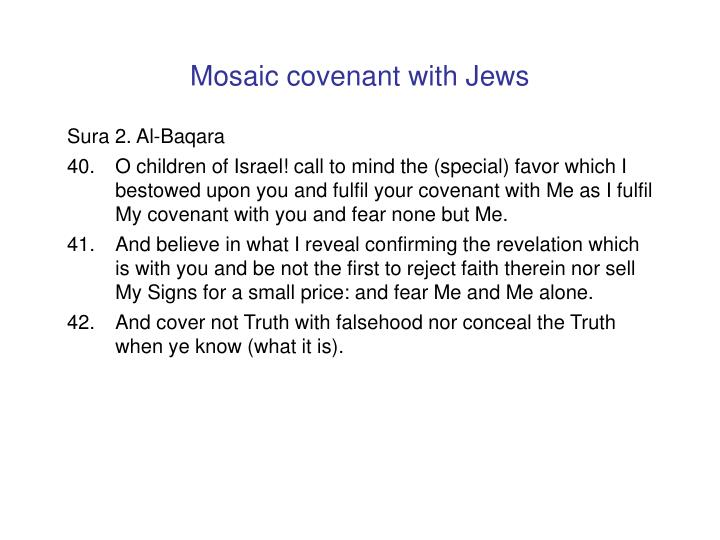 Mosaic covenant with Jews