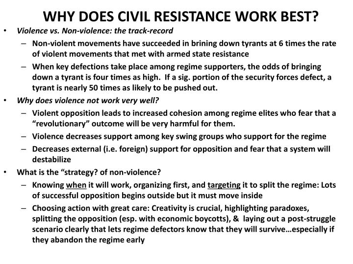 the track record on non violent movements The following is a list of powerful examples where nonviolent actions  the  independence movement, but otherwise has no proven track record.