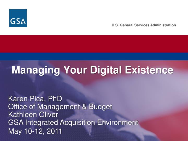managing your digital existence n.