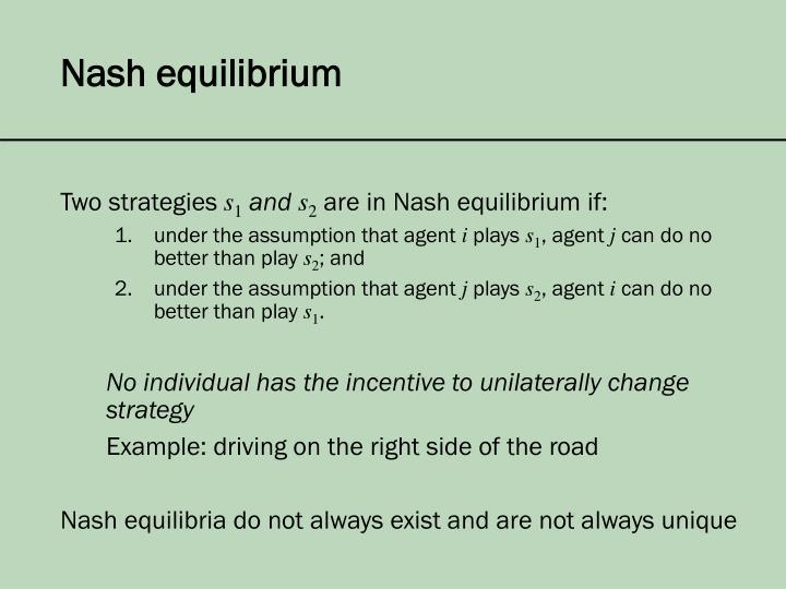 Nash equilibrium