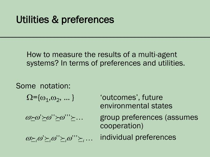 Utilities & preferences