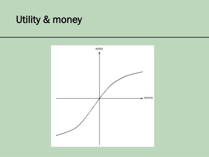 Utility & money