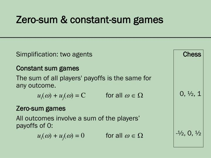 Simplification: two agents