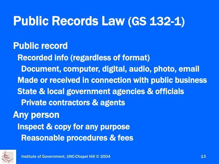 Public Records Law