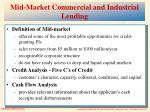 mid market commercial and industrial lending